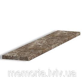 Сходинка натуральный мармур Emperador Dark  (L x h) 30мм