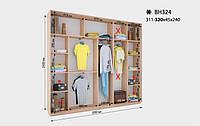 Шкаф-Купе Виват  ВН 324* В. 240 см., Гл. 45 см., Ш. от 311 до320