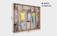 Шкаф-Купе Виват  ВН 334* В. 240 см., Гл. 45 см., Ш. от 321 до330