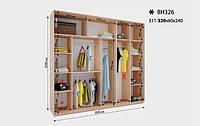 Шкаф-Купе Виват ВН 326* В. 240 см., Гл. 60 см., Ш. от 311 до320