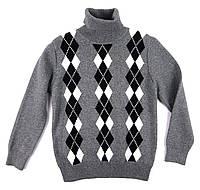Тёплый кашемировый свитер для мальчика 116, 122 р.
