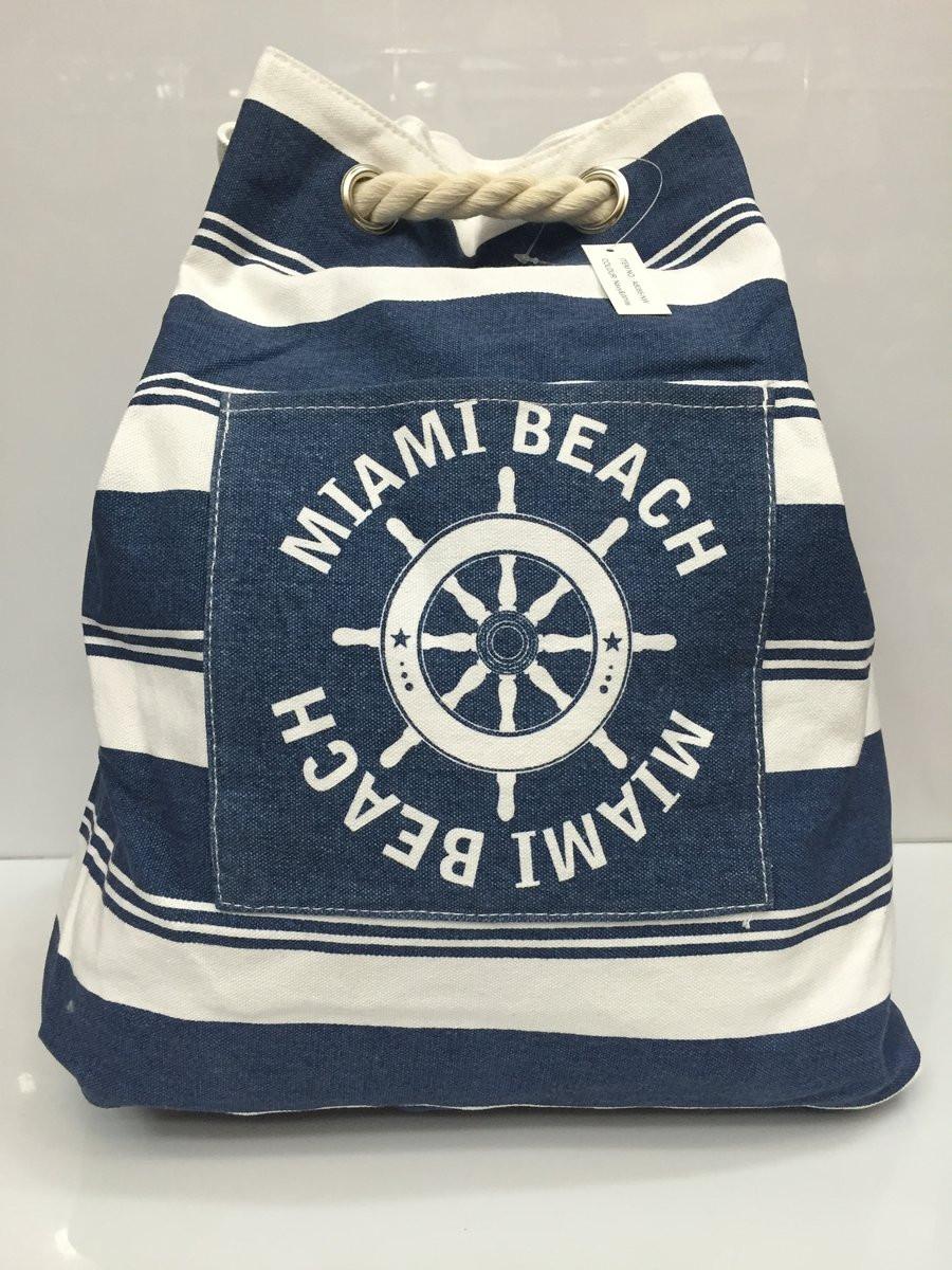 e7bebf259e1c Пляжная сумка- рюкзак Miami beach 1757 текстильный в полосочку ...