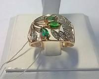 Кольцо с зелёным цирконием