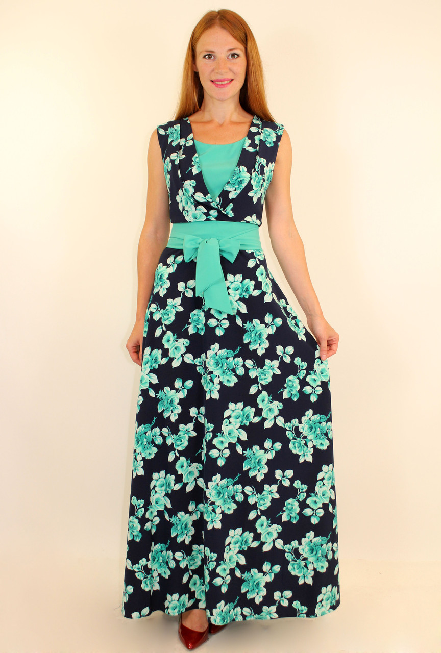 Длинное нарядное летнее платье 44-50 р