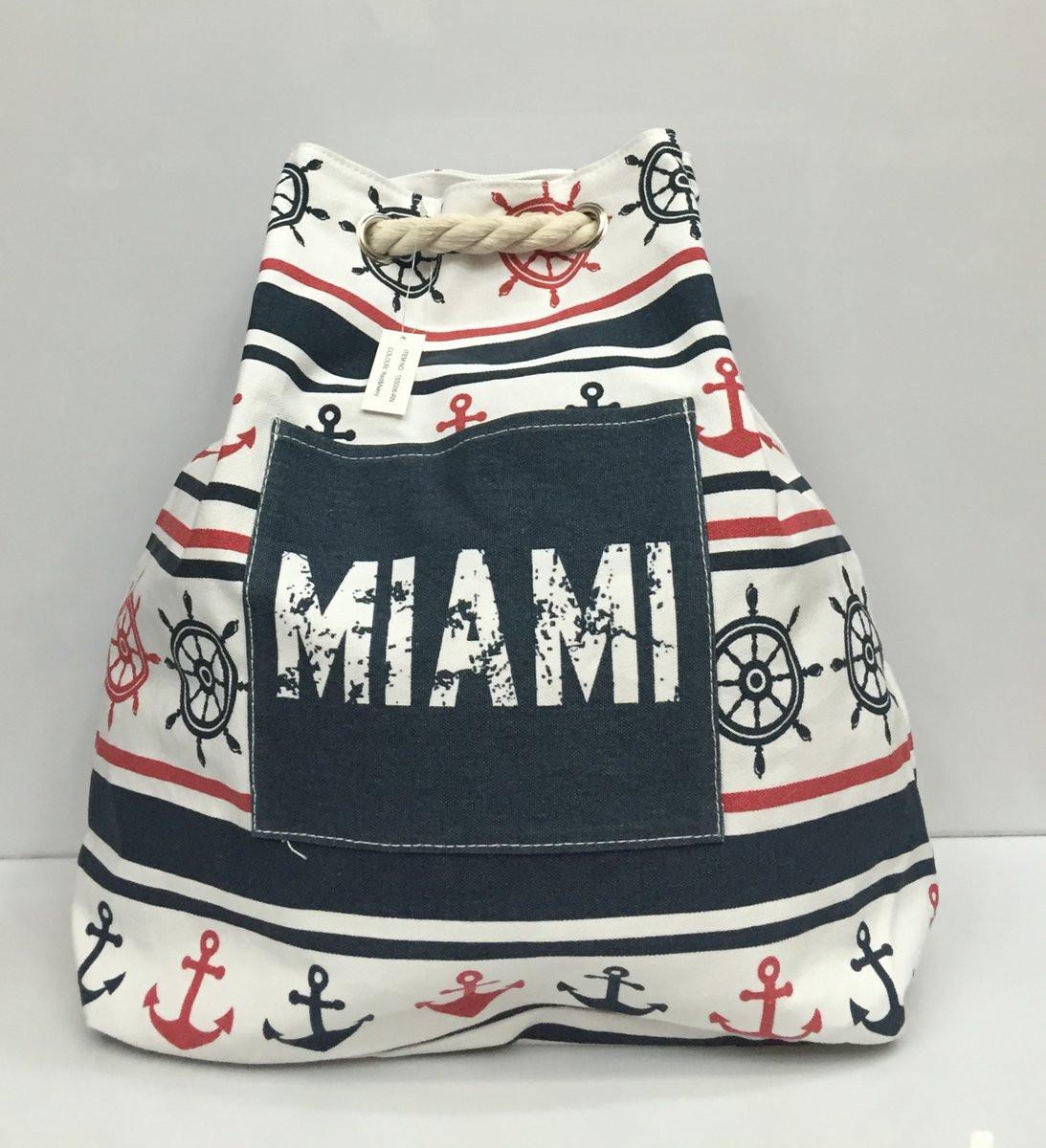 a985fd7c6b05 Пляжная сумка- рюкзак Miami 1758 текстильная с рисунком недорого ...