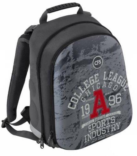 """Классный школьный рюкзак с орнаментом для мальчика 20 л CFS EVA фасад 15"""", """"College League"""" 730 CF85460 графит"""