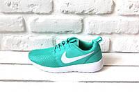 Женские кроссовки Nike Roshe Run  (Green), фото 1