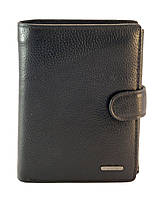 Кожаный гладкий и прочный мужской кошелек DEKESI art. 5017 black