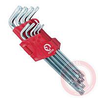 Набір Г-подібних ключів TORX 9 шт Cr-V Big INTERTOOL HT-0608
