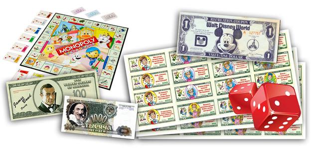 Печать игральных денег