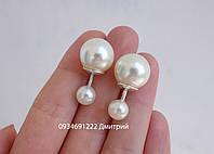 Сережки срібні DIOR, фото 1