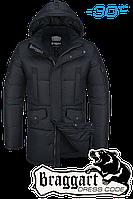 Куртка зимняя мужская удлиненная Braggart Dress Code - 2605C черная