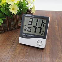 Термометр HTC-1 с часами и будильником