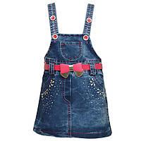 Джинсовая юбка на бретелях, на 1,2 годика, Турция