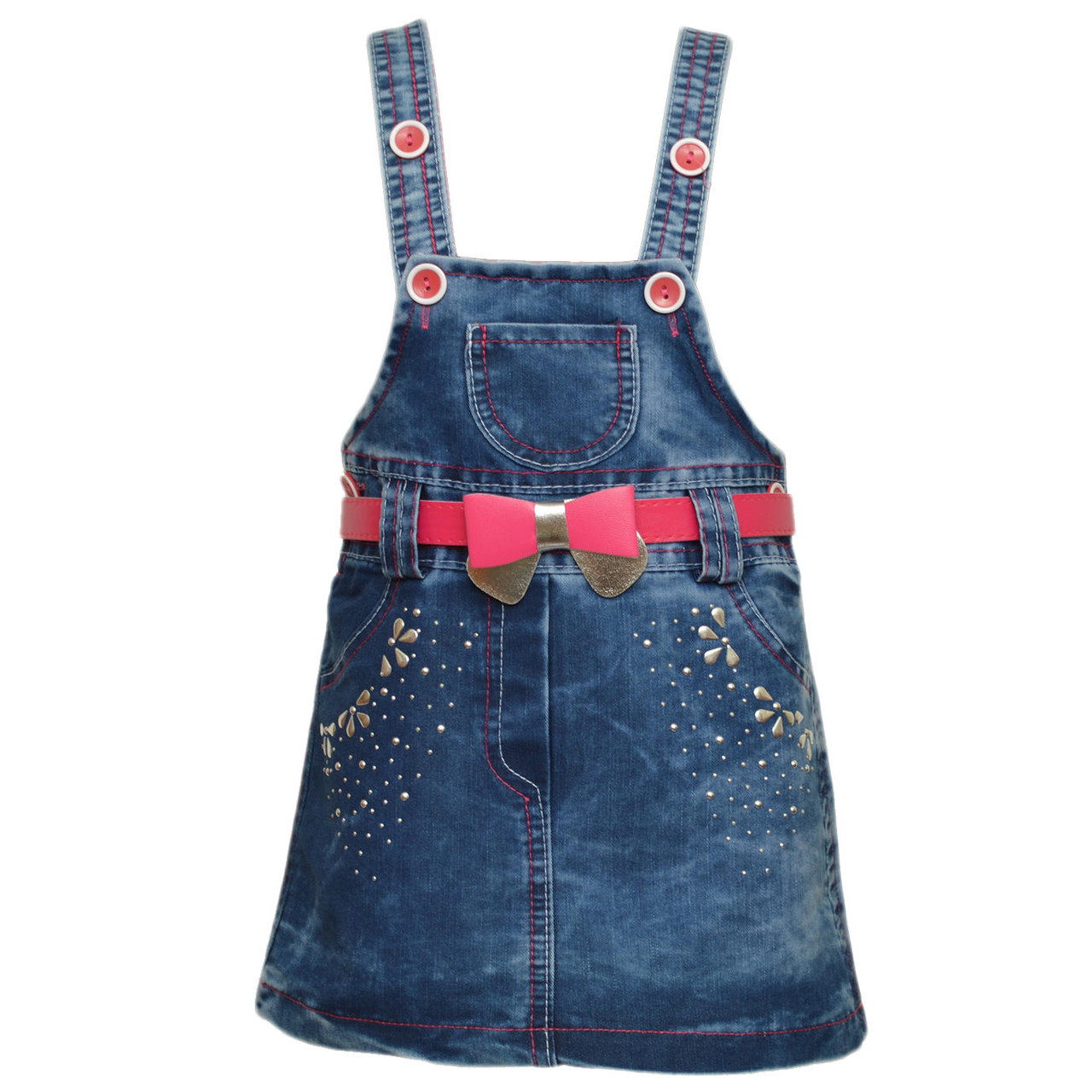 Джинсовая юбка на бретелях, на 1,2 годика, Турция, фото 1