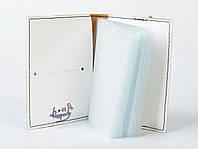 """Обложка для визиток и кредиток """"Голубые цветы"""""""
