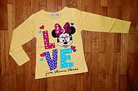 Детский джемпер LOVE Мики для девочки 1/2 лет желтый