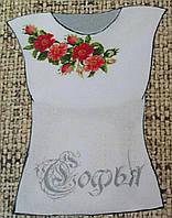 Заготовка для вышивания женской блузы на домотканом полотне, 350/380 (цена за 1 шт. +30 гр.)