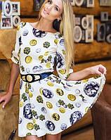 Платье с принтом | DnG монетки sk