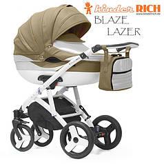 Коляска универсальная KINDER RICH  2в1 Blaze Lazer Mount кофейный