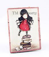 "Обложка для визиток и кредиток ""Девочка"""