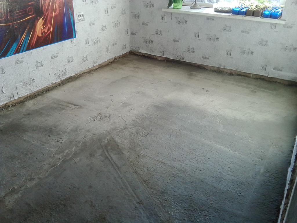 бетонная стяжка - основание для монтажа водяного теплого пола