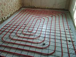 комната № 2 - смонтирована труба водяного теплого пола