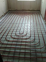 комната № 3 - смонтирована труба водяного теплого пола