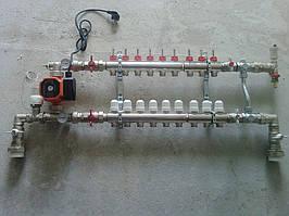 коллекторный узел в сборе со смесительным узлом
