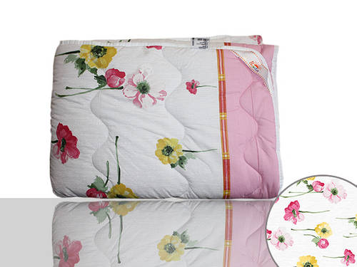 Одеяло силиконовое Евро (розовое)