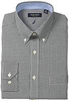 Рубашка Nautica, N 16.5 S 34/35, Black Gingham, 33NA20678