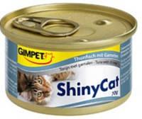 Gimpet ShinyCat с тунцом и креветками 70 гр.*2шт.