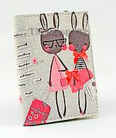 """Обложка для визиток и кредиток """"Кролики"""""""