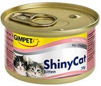 Gimpet ShinyCat Kitten с курицей 70 гр.*2шт.
