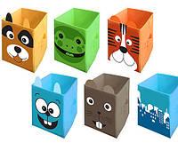 Ящик - корзина для хранения игрушек 6 цветов (30*30*45)