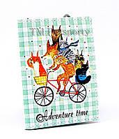 """Обложка для визиток и кредиток """"Животные на велосипеде"""""""