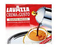 Кофе натуральный молотый. Lavazza Crema e Gusto Ricco, 250 г (серебряная упаковка)