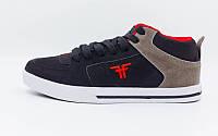 Кроссовки Кожа FALLEN ST01-1109 (р-р 40-45) (верх-кожа, подошва-TPU,черный-красный-серый)