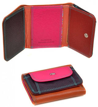 Чудесный маленький женский кожаный кошелек dr.Bond WRS-7 orange, оранжевый
