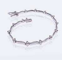 Женский браслет из белого золота с бриллиантами С25Л1№11