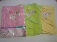 Детское полотенце для купания с руковичкой и капюшоном