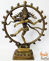 """Настольная бронзовая статуэтка """"Танцующий Шива"""""""