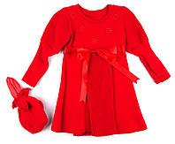 Вязаное платье для девочки 98р.