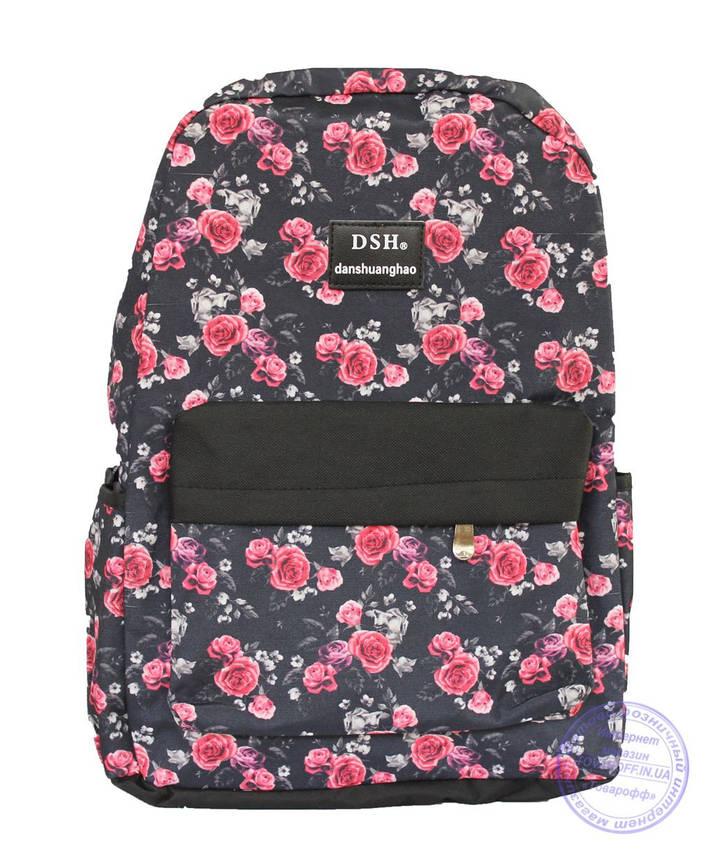 Рюкзак с розочками для девочек 501-1, фото 2