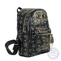Рюкзак для девочки из эко-кожи - черный - 6638