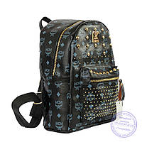 Рюкзак для девочки из эко-кожи - черный - 6638, фото 1