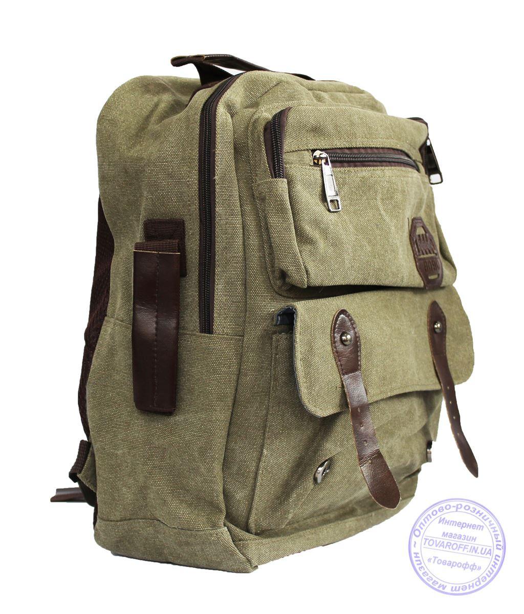 Матерчатый рюкзак - зеленый - 7121