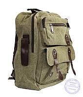 Матерчатый рюкзак - зеленый - 7121, фото 1