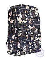 Тканевый рюкзак для девочки - синий - 7145, фото 1