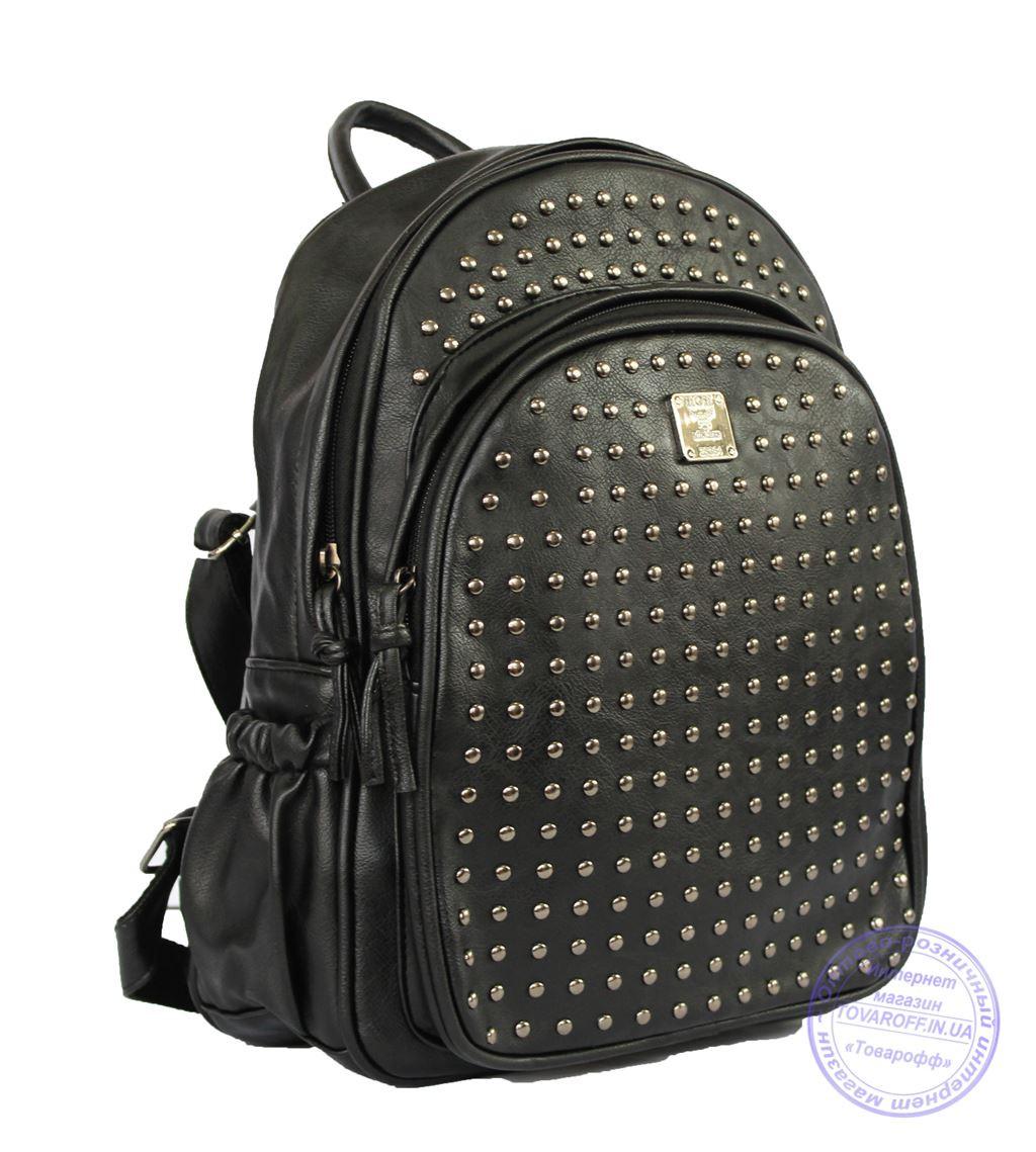 Рюкзак с шипами небольшого формата - черный - 7319